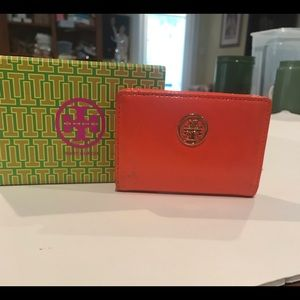 Tory Burch Orange Small Wallet Card Holder
